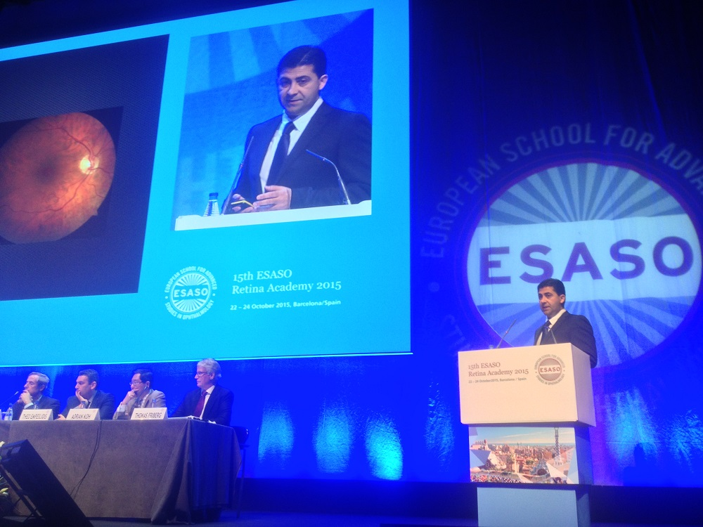 Dr Amir Mani Addressing ESASO Retina Academy 2015 in Spain
